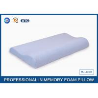 China Light Blue Breathable Child Contour Therapeutic Memory Foam Pillow For Health Care on sale