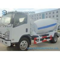 China Isuzu 4CBM Concrete Truck Mixer With Interpump Hydraulic Pump And Motor on sale