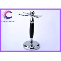 China Black ebony metal Safety razor and brush stand with Print or laser LOGO wholesale