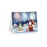 China 3D 12x17cm Greeting Card Lenticular Printing Services  With Customized X-mas Images wholesale