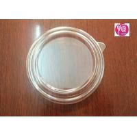 China 20oz 125mm PET Material Salad Bowl Lid With A Ear / Transparent wholesale