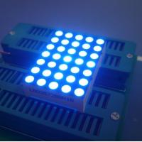 China Digital Time Zone 5x7 Dot Matrix LED Display Ultra Blue1.26 Inch 3mm Long Lifetime wholesale