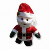 China Santa Claus Toy, Made of 100% Polyester, Available in Red wholesale