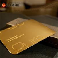 China Customize Cheap Embossed Thick Plastic Pvc Luxury Foil Gold Metal Business Cards Printing wholesale