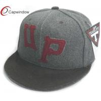 China Dark Grey Velcro Custom Baseball Team Hats Embroidered Baseball Hats wholesale