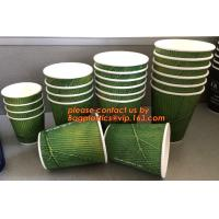 Buy cheap ECO Friendly Custom Design Corrugated Coffee Paper Cup,8 oz 12 oz 16 oz Custom Printing logo Double Wall paper cup with from wholesalers