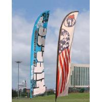 China Trade Show Feather Flags Banner , Swooper Flag Feather Fly Knitted Polyester wholesale