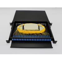 China Light Weight Fiber Optic Terminal Box 24 Ports FTTH Rack Drawer Type With Patch Panel wholesale