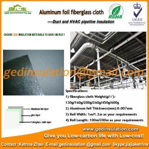 China Aluminium Foil coated fiberglass cloth thermal insulation fabric on sale