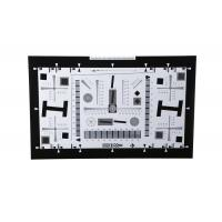 China iso 12233 2000 lines camera lens resolution test chart both on paper and glass (chrome print) 0.5x 200mm*356mm 16:9 wholesale