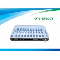 Buy cheap 4 Ethernet 10 / 100M Gpon Epon1 CATV Port 2 FXS  Ports Plastic Black Buint in WIFI from wholesalers