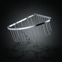 China 304 Stainless Steel Bathroom Accessory Corner Basket Shelf Single Layers wholesale