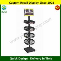 China Beverage Display Rack with Logo Printing and 4 Adjustable Feet YM6-008 wholesale
