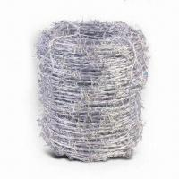 China High-resistant Barbed Wire with Hot-dipped Galvanized Finish and 100 to 120kg Tensile Strength wholesale