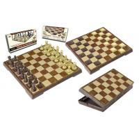 China 2 In 1 Magnetic Folding Peach Wood Chess&checker on sale
