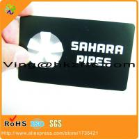 China Custom die cut vip personalized metal business name name card with cheap price,black metal name card on sale