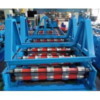 China Glazed Roof Panel Roll Forming Machine , Cold Forming Machine Panasonic PLC Control wholesale
