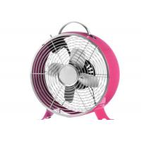 China Easy Moving Pink Antique Electric Table Fan 110V 60Hz 4 Blade Brushed Copper on sale