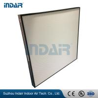 China Alumiunm Frame Clean Room HEPA Filters , Mini Pleat HEPA Filter With HV Fiberglass wholesale