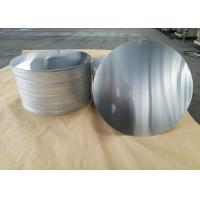 China Cookware Aluminum Sheet Circle Silver With Pre Painted Non - Stick Black Coating wholesale