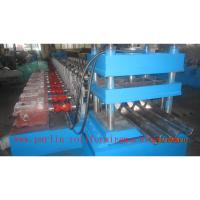 Buy cheap PLC Control Crash Barrie Guardrail Roll Forming Machine , Highway Guardrail Making Line from wholesalers