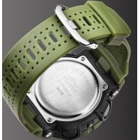 Quality SYNOKE Men Dual Time 5 ATM Waterproof  Shock Resist PU Strap Fashion Outdoor Sports Watches  9478 for sale