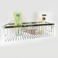 Buy cheap Chrome Layers Stainless Steel Bathroom Accessory Single Corner Shower Wire Basket from wholesalers