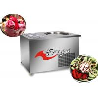 China Commercial Fried Ice Cream Roll Machine , Manual Defrosting, Stainless Steel 304 Body wholesale