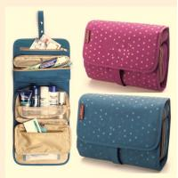 China Colorful Travel Travel Makeup Bag , Cosmetic Rolling  Travel Bags For Women wholesale