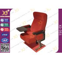 China Self Weight Close Seat Pad Moive Theater Seating Chairs In Aluminum Alloy Legs wholesale