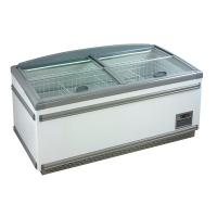 China Auto Defrost Supermarket Island Freezer For Frozen Food Top Open Freezer on sale