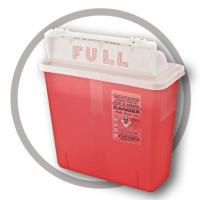 China 4.6 Litre Sharps disposal container, Sliding Lid, Red,Sharps Container  | WinnerCare wholesale