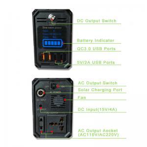 Quality Solar power system portable energy storage power 300W power station AC110V, for sale