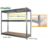 Durable Boltless Garage Shelving System , 3 Tier Metal Shelving Unit No Bolting 300Kg Capacity