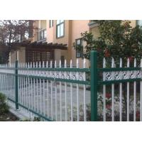 China Euro Style Tubular Zinc Steel Fence Powder Coated For School , Convenient Install wholesale