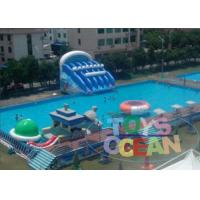 China Open Fun Playground Inflatable Water Park Metal Frame Swimming Pool Mobile wholesale