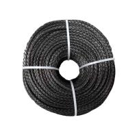 China 6mm 100m Black Glider Towing UHMWPE Fiber Rope Superior Fatigue Resistance wholesale