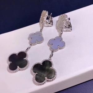 China Van Cleef & Arpels 18K Gold Diamond Earrings / Magic Alhambra Earrings With Gemstone wholesale
