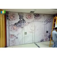 Buy cheap Fabric Surface Acoustic Partition Walls With Sliding Aluminium Track High Stable from wholesalers