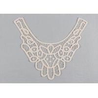 China Embroidered Guipure Lace Neck Collar Applique Cotton Venice Lace For Fashion Dresses wholesale