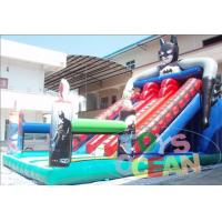 China Cartoon Inflatable Pool Water Slide For Kids / Large Inflatable Water Slides wholesale