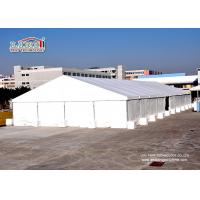 China 10x12 Meter Plain  White PVC Aluminum  Construction Industrial Storage Tents wholesale