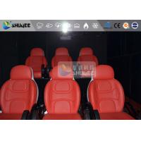 China 3 Seat 7D Cinema 7D Movie Theater Red Motion Rides With Pneumatic System wholesale