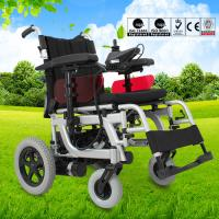 China Lightweight Electric Folding Wheelchair Spray Steel Material DLY-6012 wholesale