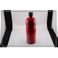 Quality 500ml red sand blasting painting aluminum bottles for vitamin drinks for sale
