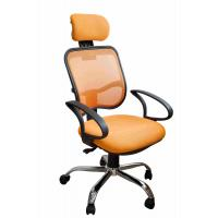 China Orange Fabric Home Office Computer Chair Ergonomic Back Comfortable For Whole Day Work wholesale