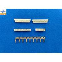 China Phosphor Bronze Pitch 1.0mm Wire To Board Connectors Dual Row With PA46 Material wholesale