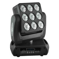 Buy cheap High Brithness 9 X 12 W RGBW LED Moving Head Light Wash Sharpy Beam Matrix from wholesalers