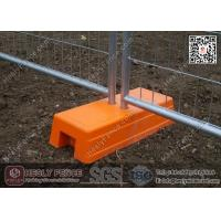 China Orange Color Injection Mould Plastic Temporary Fencing Feet | China Temp Fence Feet Supplier wholesale