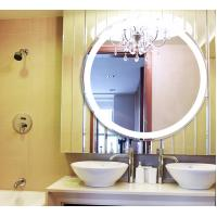 Quality LED Circular Frameless Bathroom Wall Mirrors Hanging Waterproof With Lights for sale